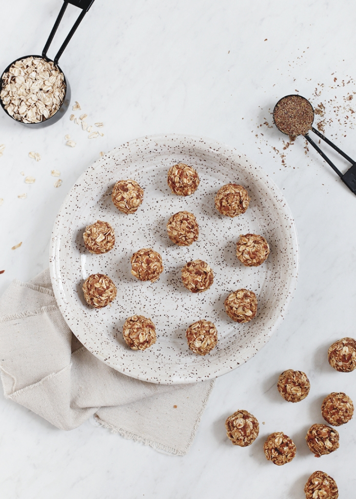 Peanut Butter + Toasted Coconut Protein Bites @themerrythought