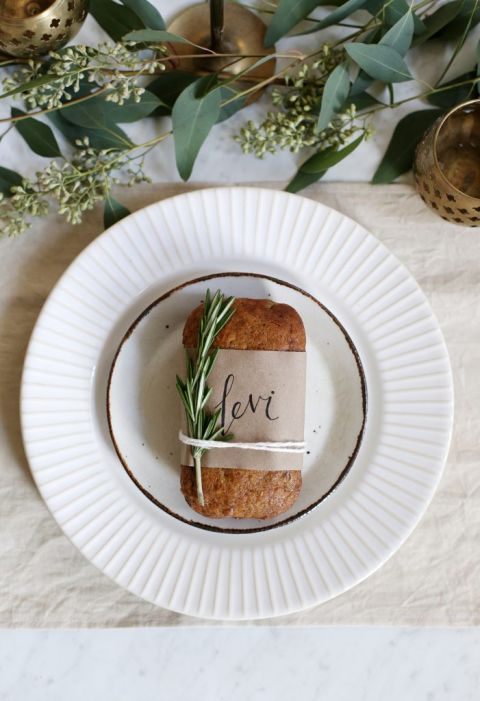Thanksgiving Bread Loaf Place Cards