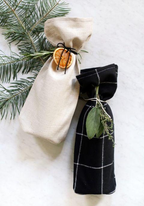 DIY Fabric Wine Bags