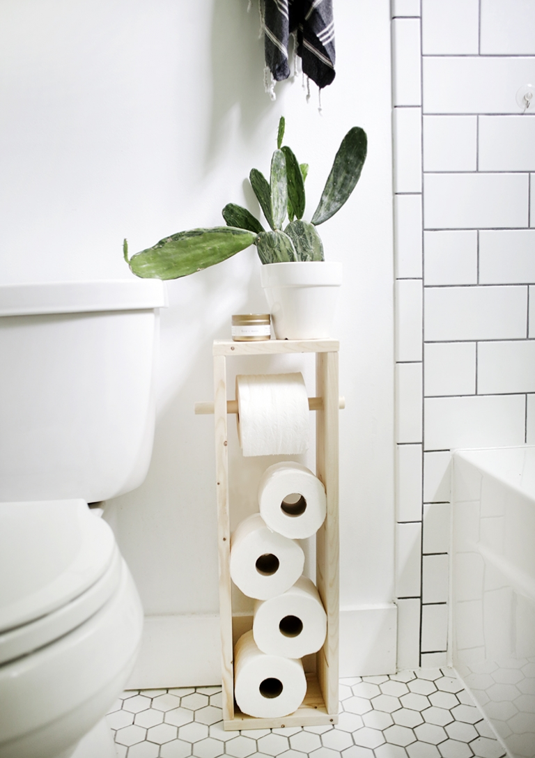 Diy Toilet Paper Stand The Merrythought