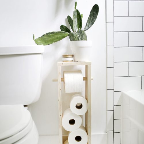 DIY Toilet Paper Stand @themerrythought