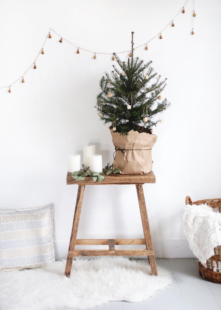 Small Christmas Tree + Simple DIY Wooden Ornaments - The Merrythought