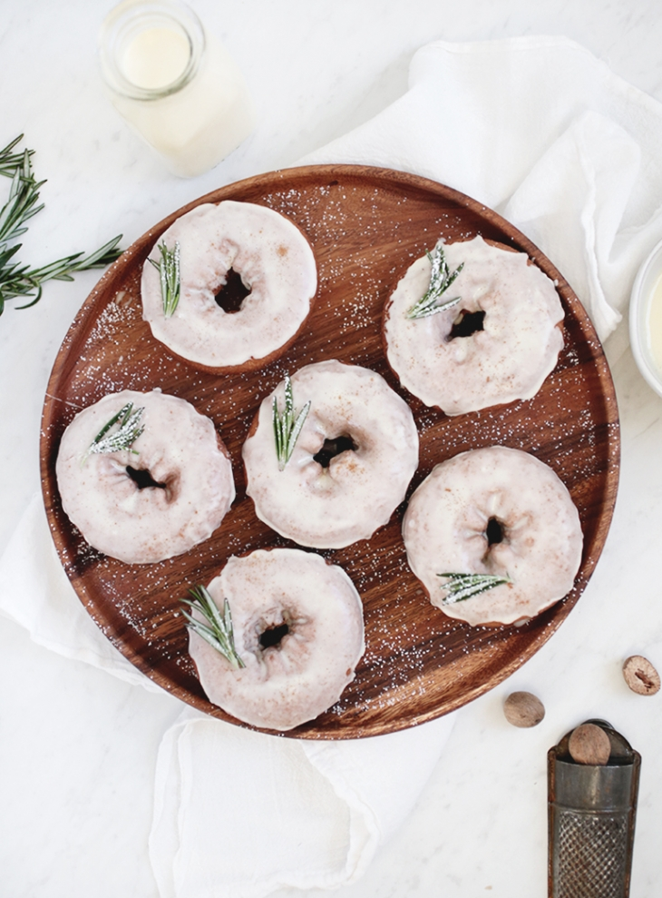 Eggnog Glazed Donuts @themerrythought
