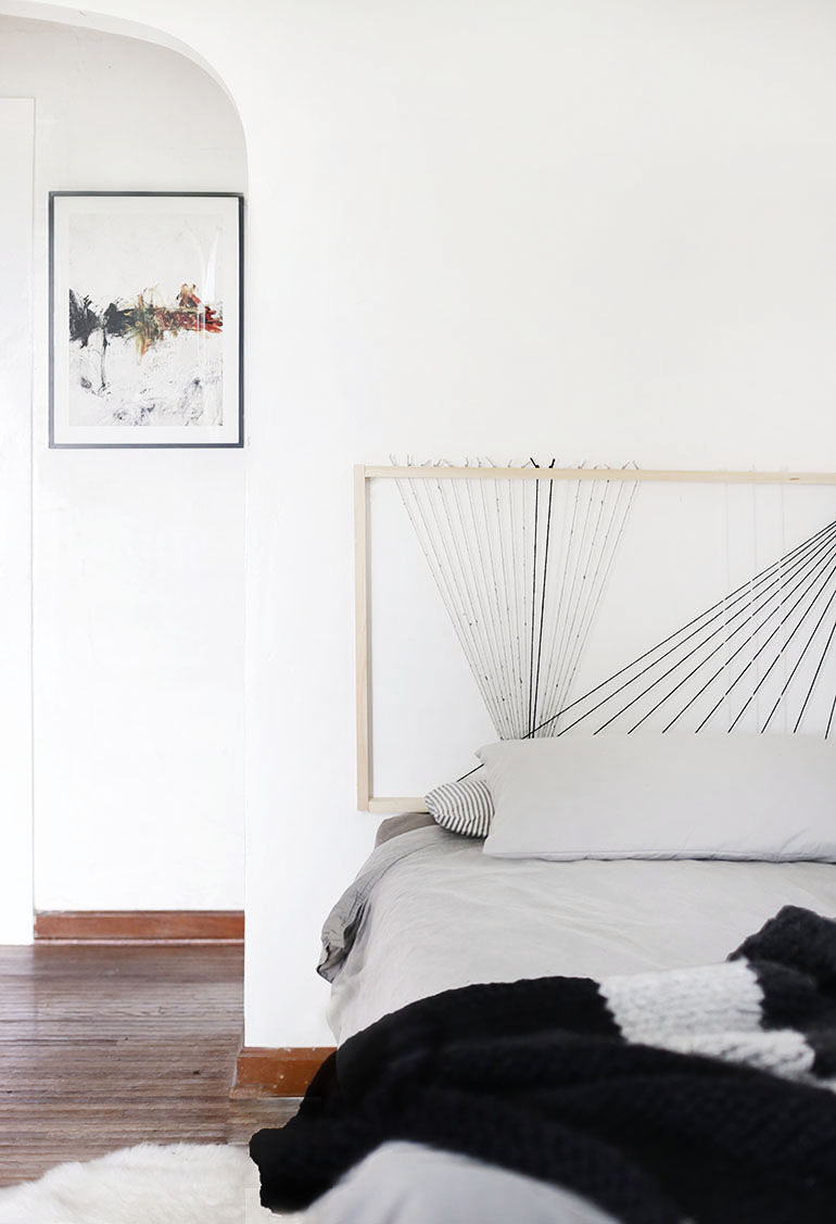 DIY String Headboard @themerrythought