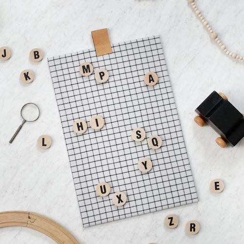 DIY Alphabet Magnet Board @themerrythought