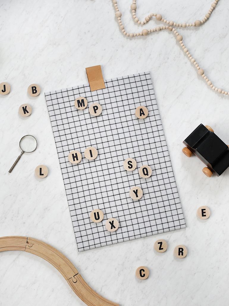DIY Alphabet Magnet Board @themerrythought