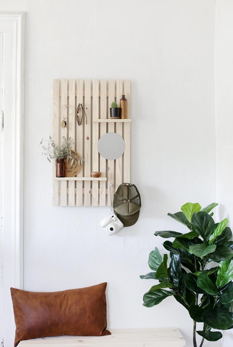 Diy Slat Wall Shelf The Merrythought