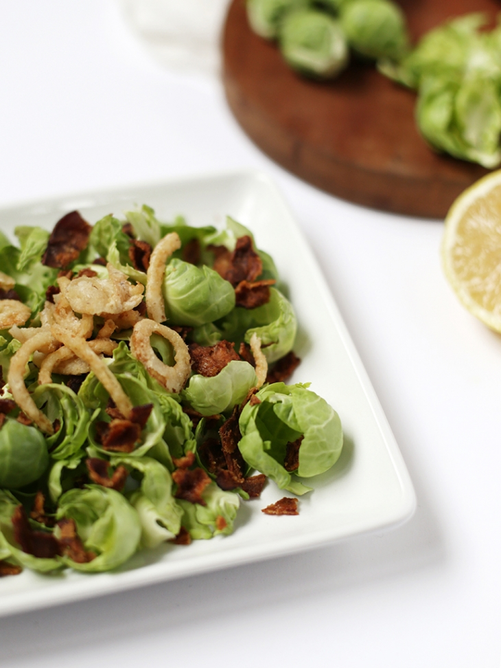 Brussels Sprout Salad with Lemon Vinaigrette @themerrythought #nyscertified
