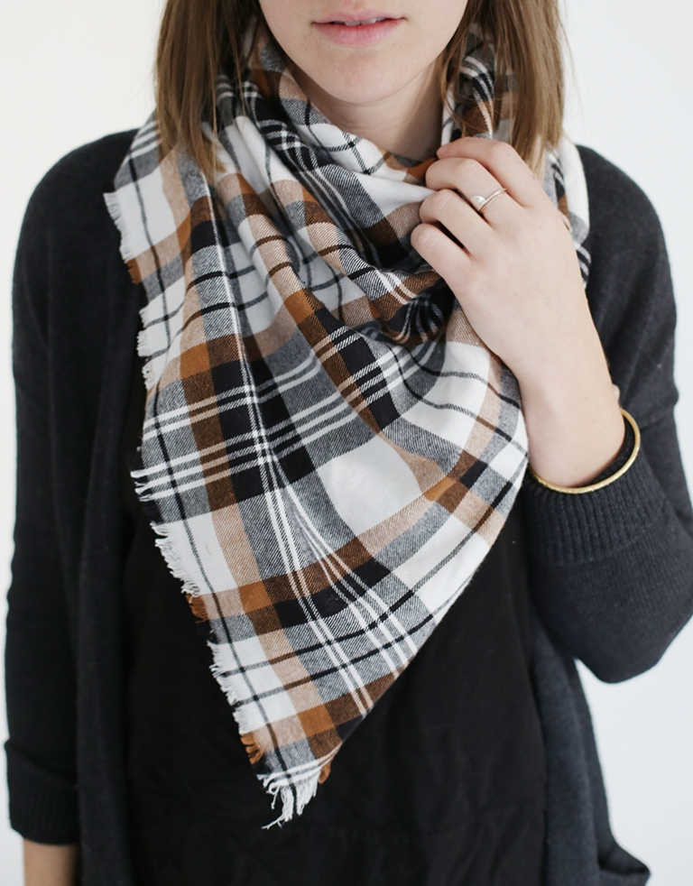 Diy Flannel Blanket Scarf The Merrythought