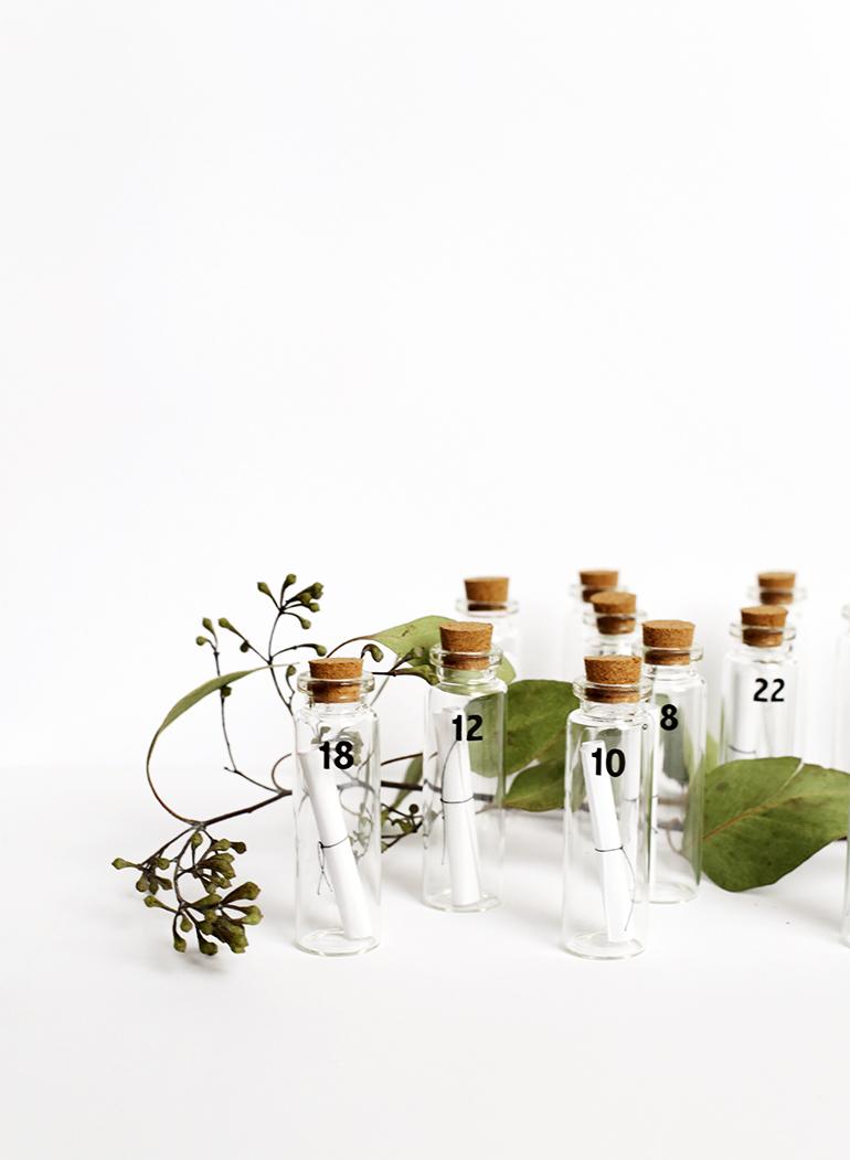 diy message in a bottle advent calendar the merrythought. Black Bedroom Furniture Sets. Home Design Ideas