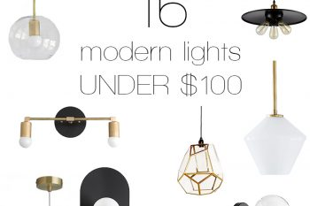 16 Modern Lights Under $100 @themerrythought