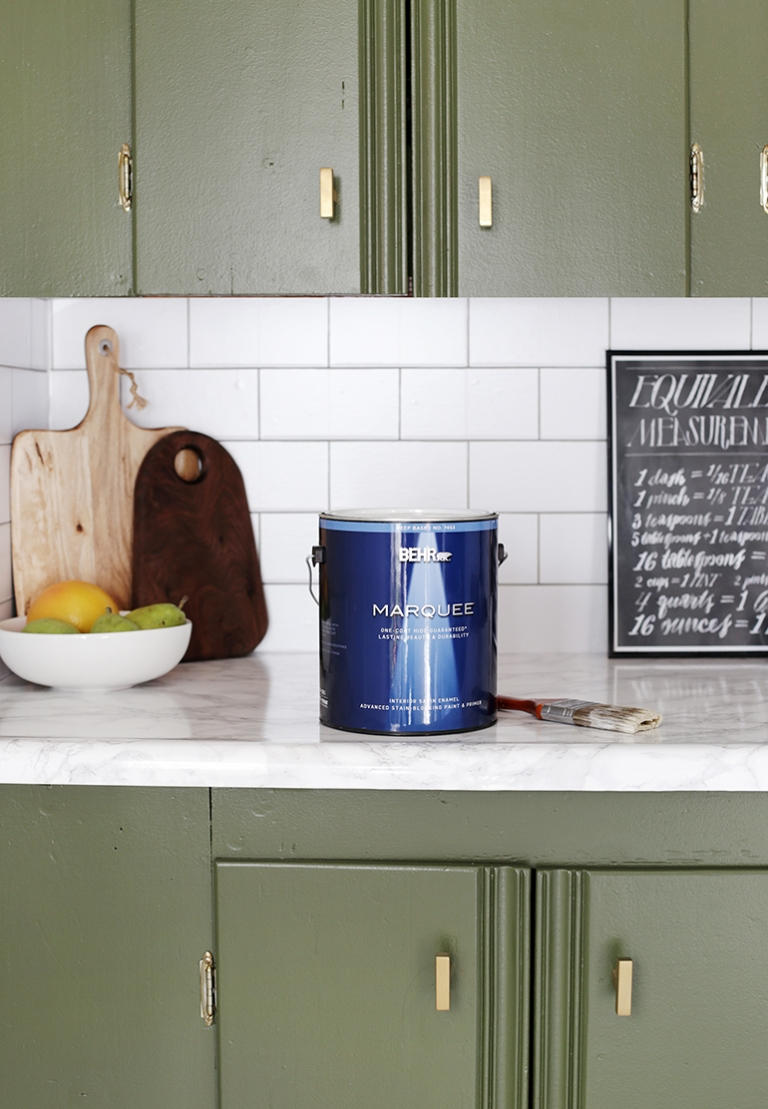 How to Paint Kitchen Cabinets - The Merrythought