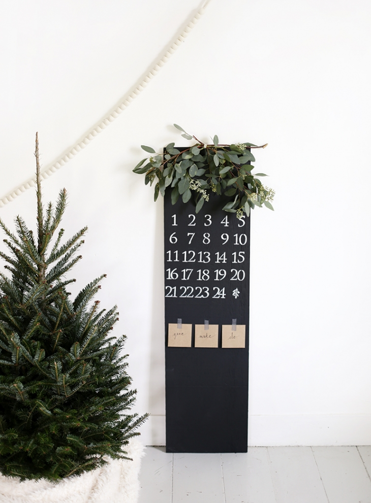 DIY Chalkboard Advent Calendar @themerrythought