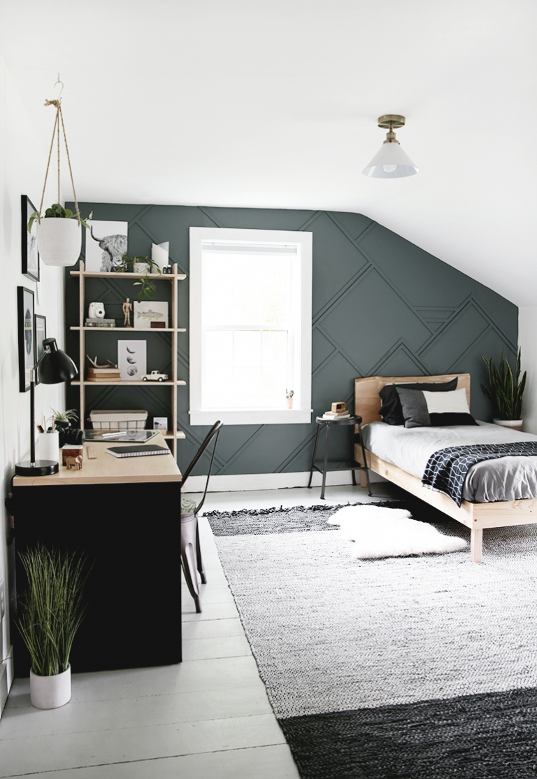 Modern Teen Boy Bedroom: Before and After