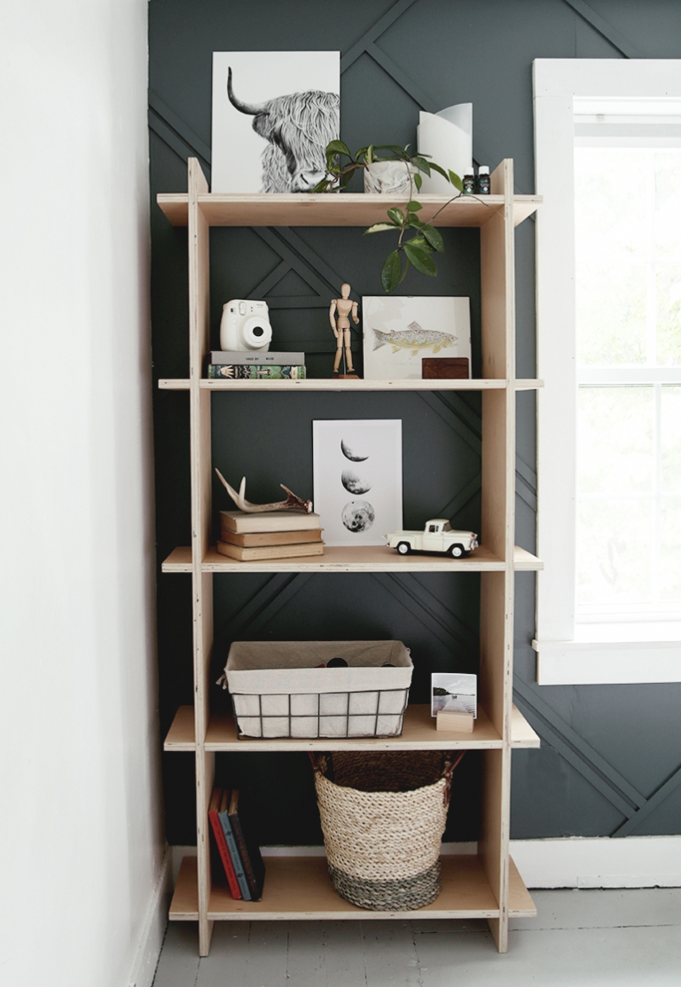 decorated shelf made of wood