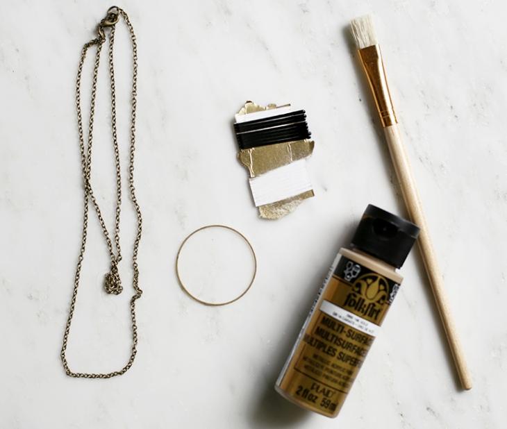 DIY Circle Matchstick Necklace @themerrythought