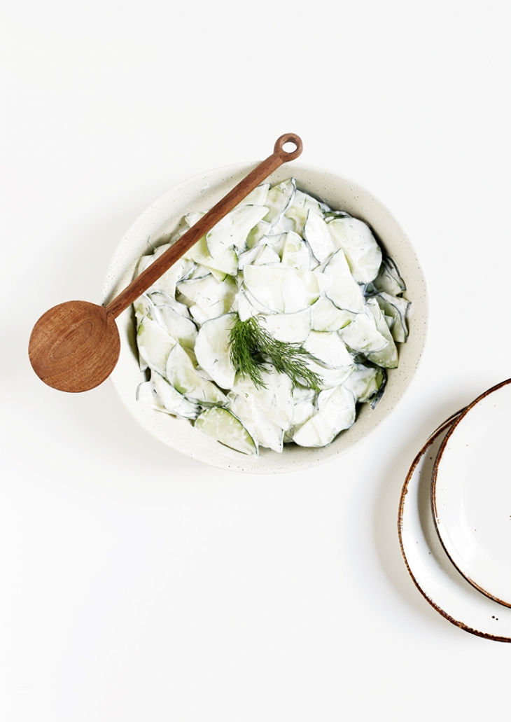 Creamy Cucumber Salad @themerrythought