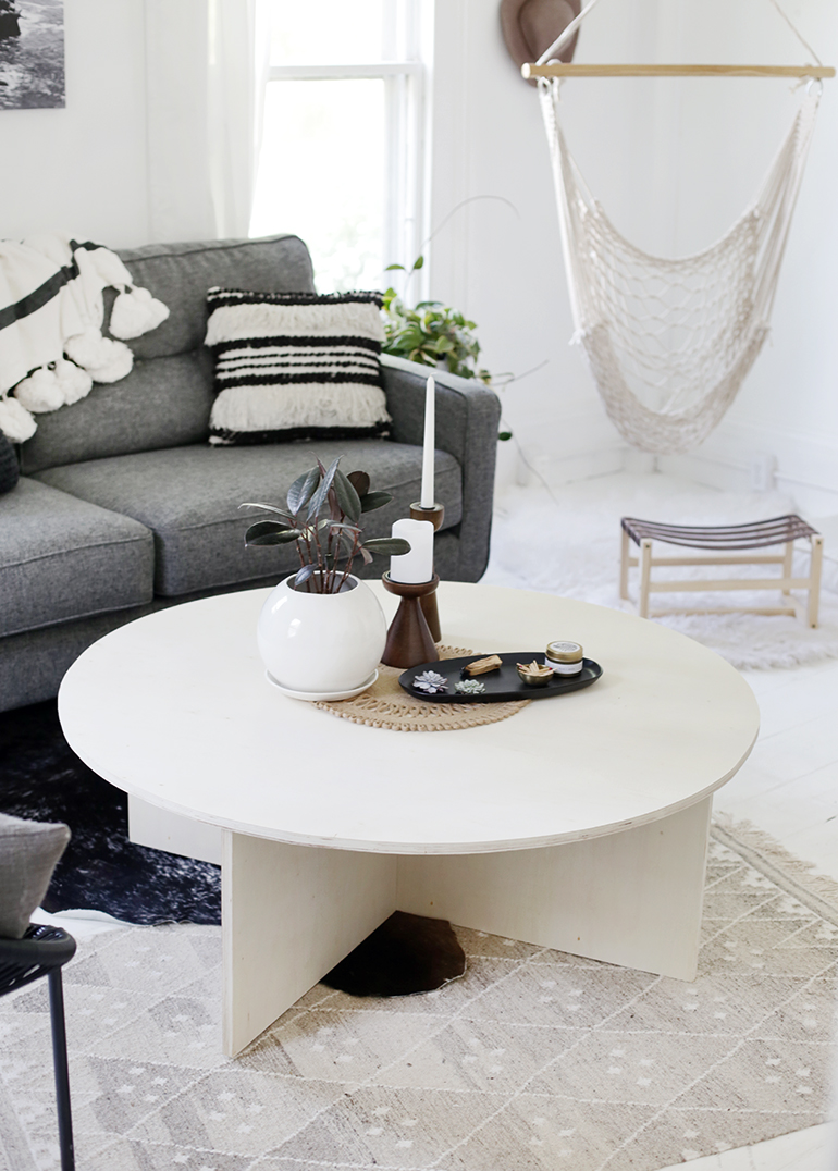 DIY Round Plywood Coffee Table - The Merrythought