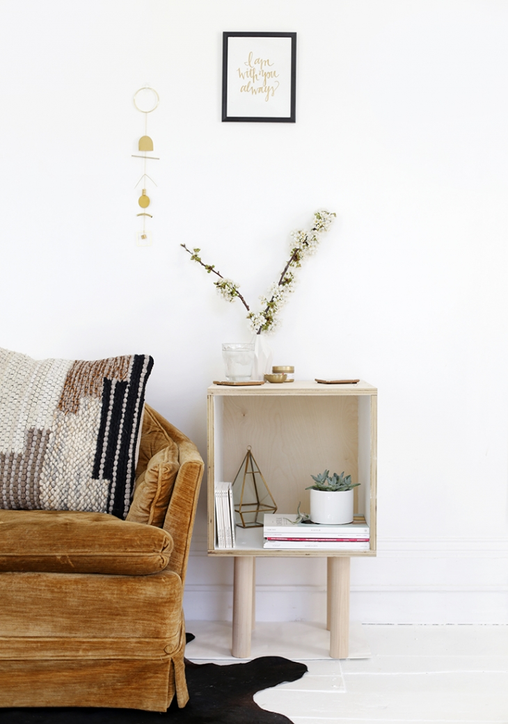 DIY Plywood Side Table @themerrythought