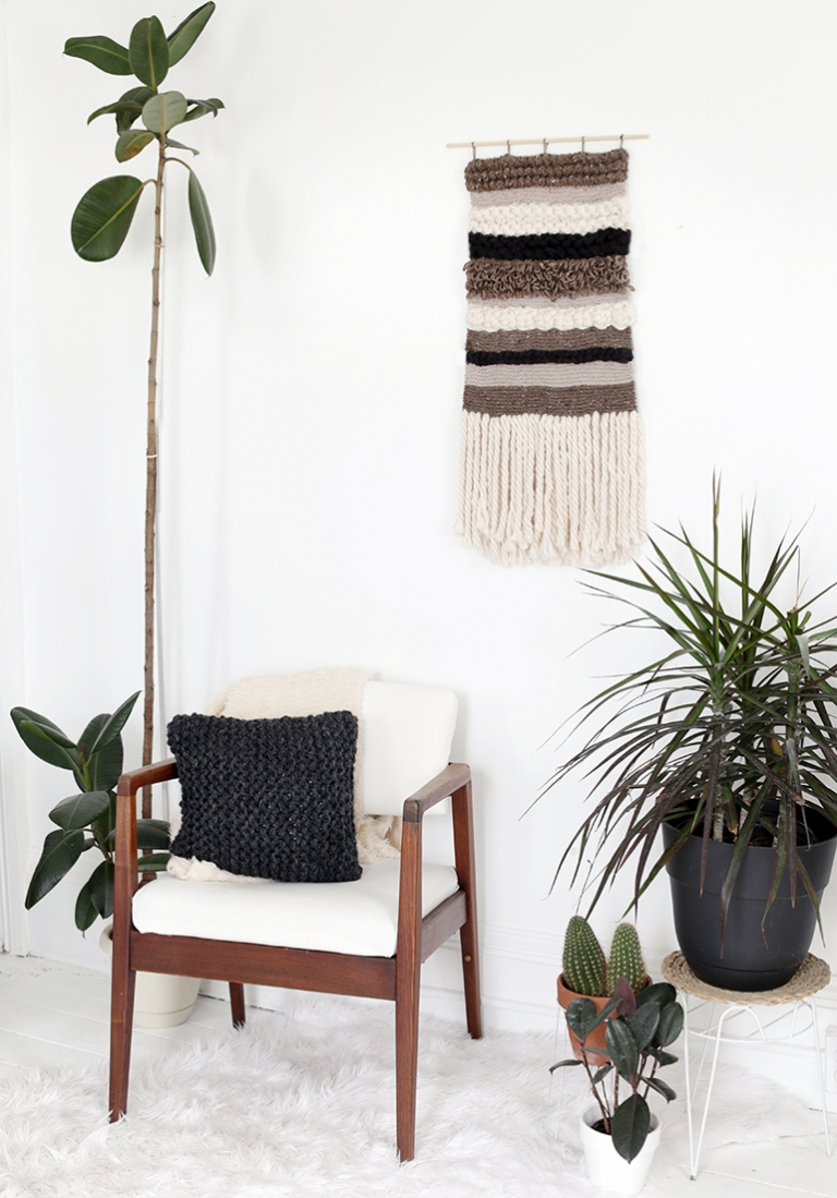 DIY Knit/Crochet Wall Hanging - The Merrythought