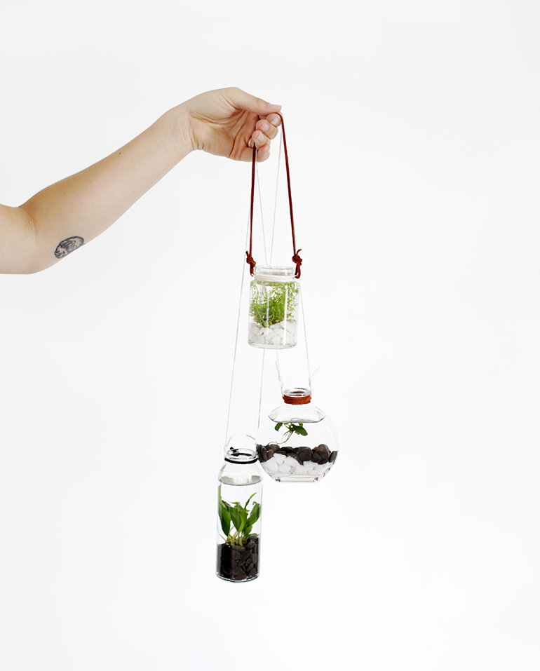 diy hanging water garden the merrythought. Black Bedroom Furniture Sets. Home Design Ideas