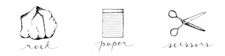 DIY Rock, Paper, Scissors Costume (& Printable!) @themerrythought