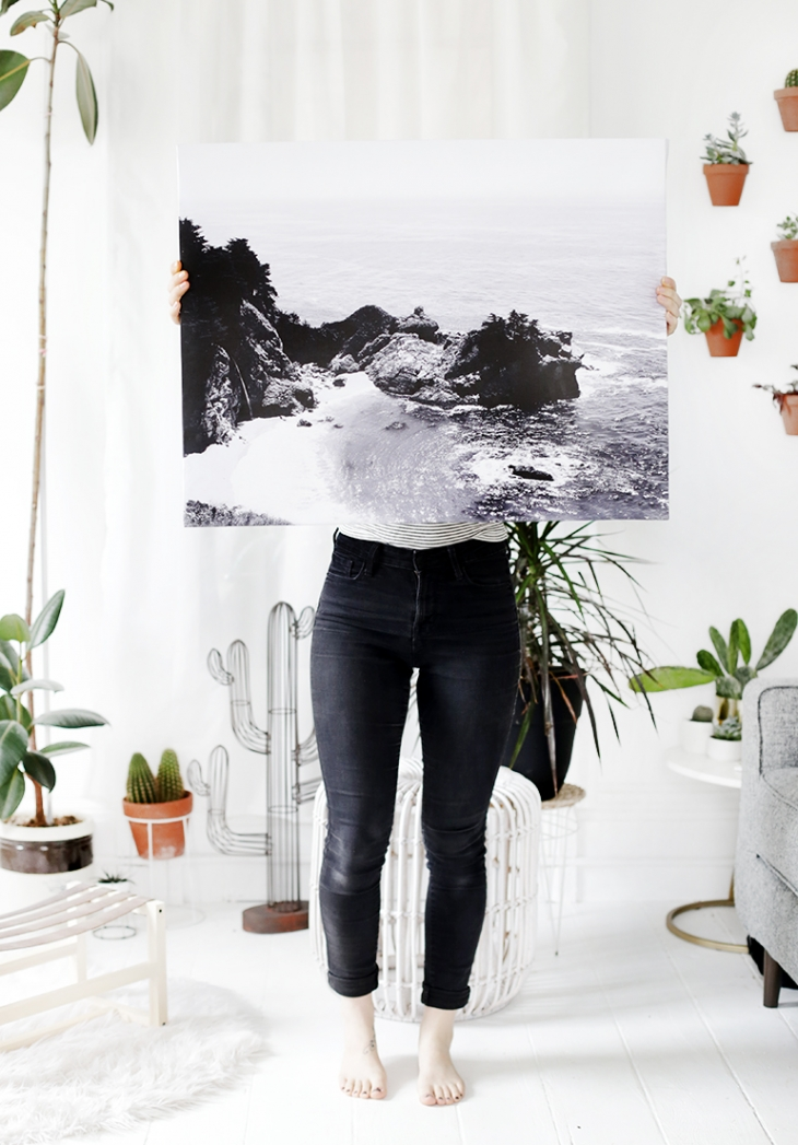 DIY Cheap Canvas Print @themerrythought