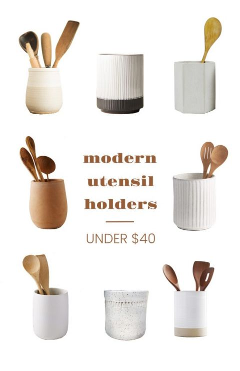 round up of utensil holders with text