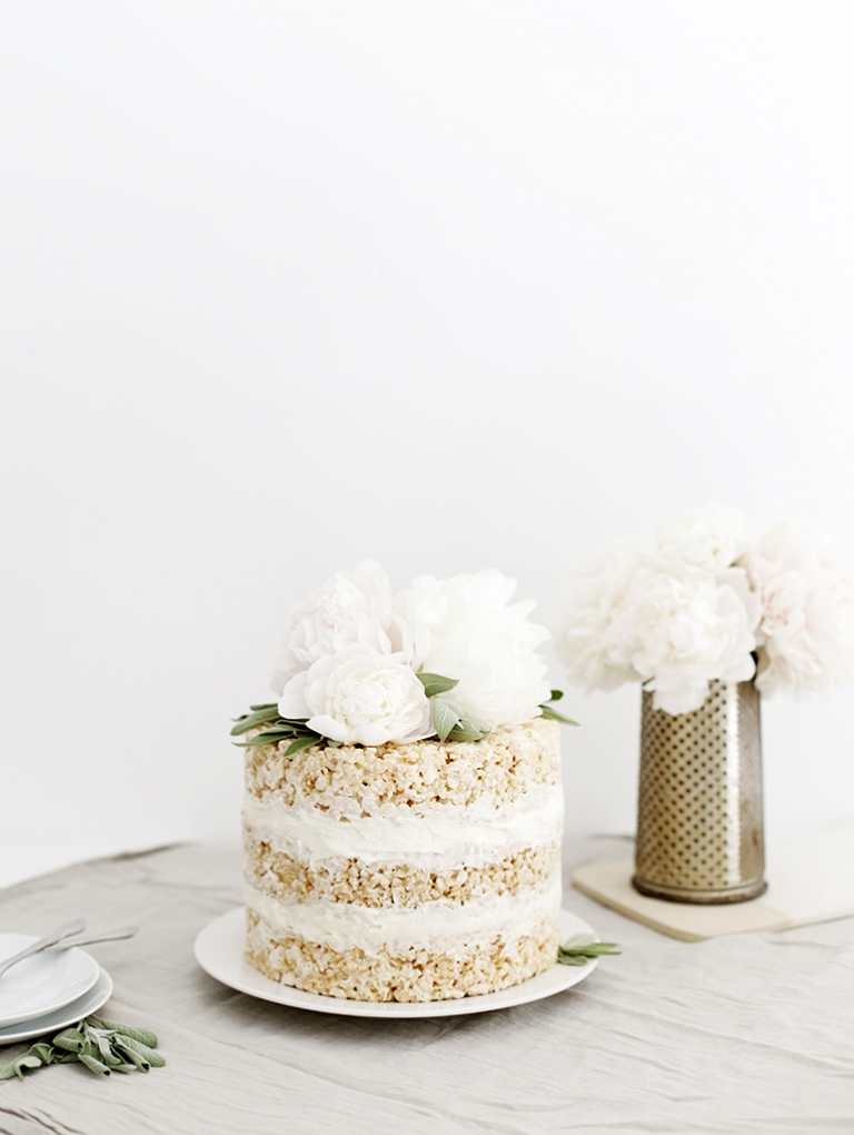 Cool Floral Rice Krispie Cake The Merrythought Funny Birthday Cards Online Elaedamsfinfo