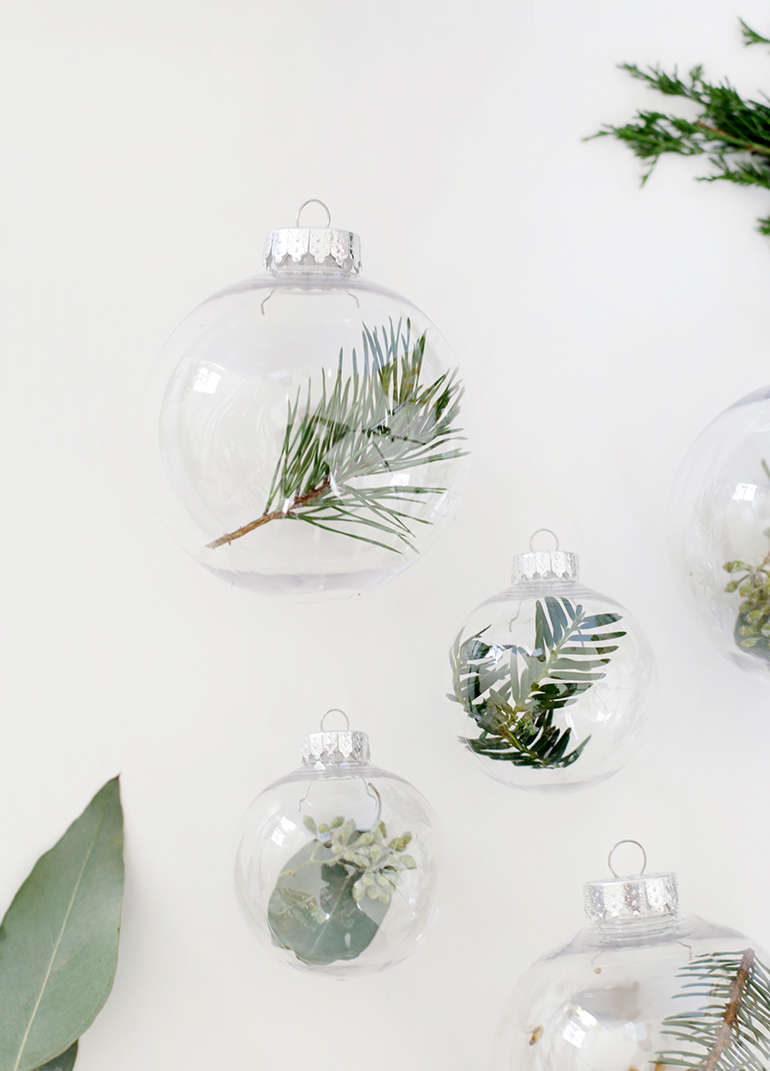 Diy Fresh Greenery Ornaments The Merrythought