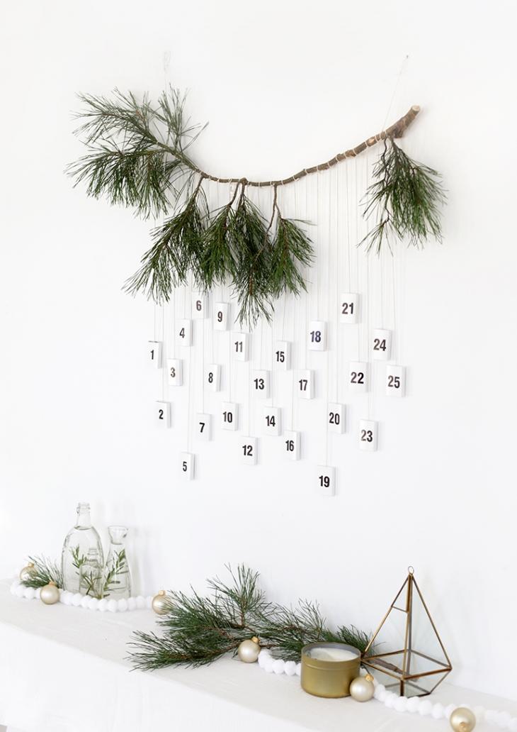 DIY Modern Matchbox Advent Calendar @themerrythought