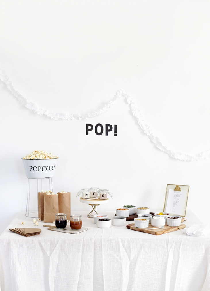 Popcorn Bar + Family Game Night @themerrythought
