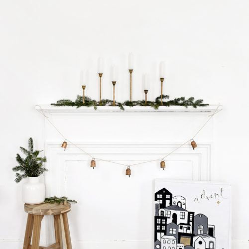 DIY Painted Village Advent Calendar @themerrythought