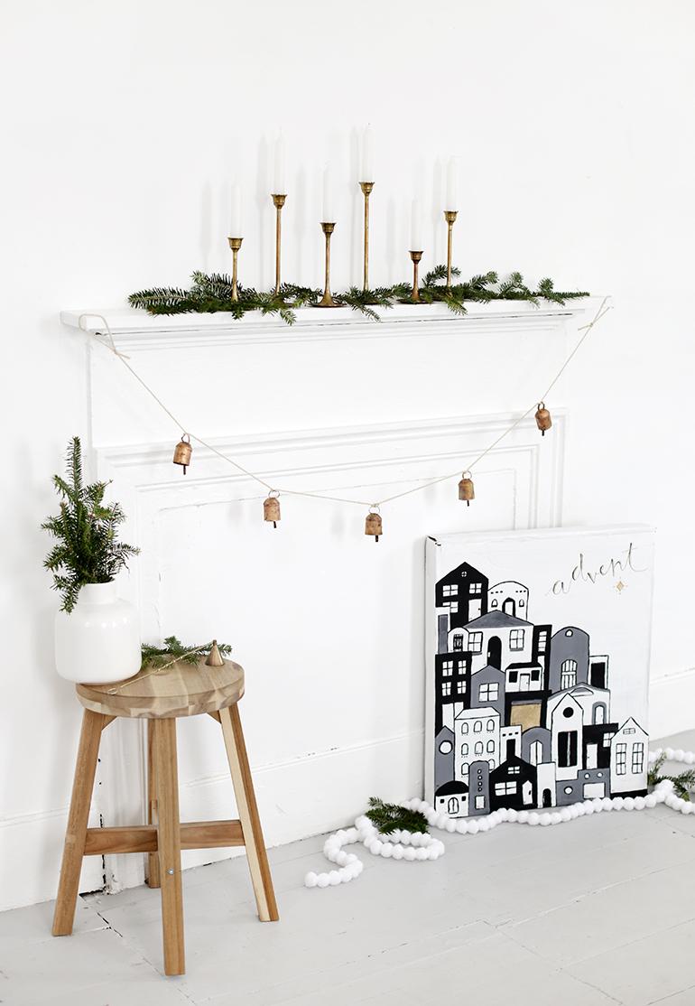 DIY Painted Village Advent Calendar @themerrythought