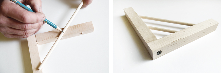 DIY Modern Wood Shelf Brackets
