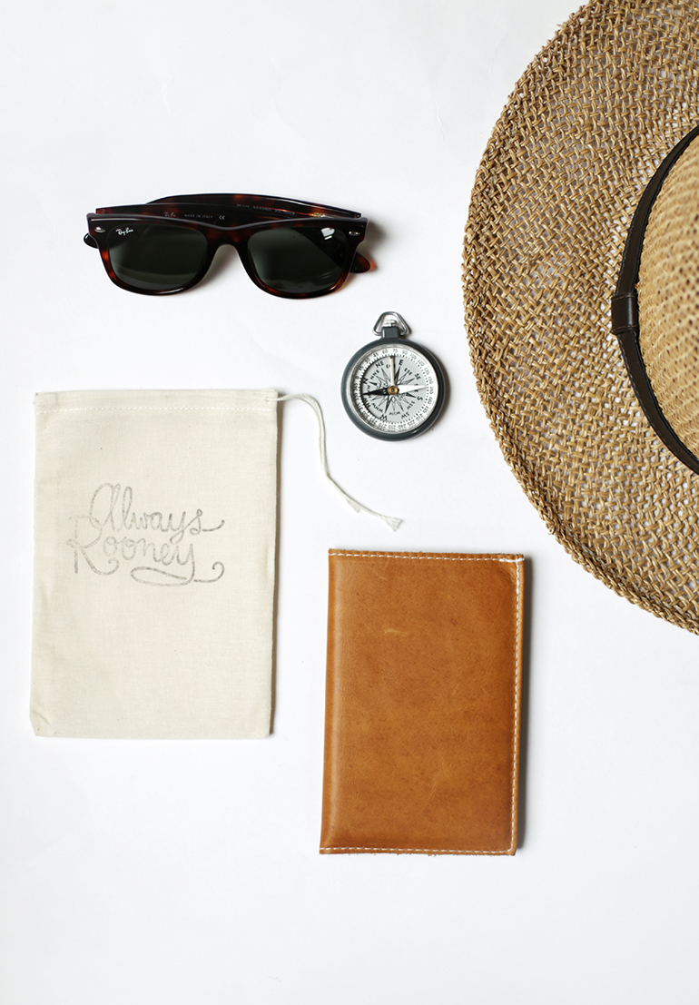 Always Rooney Leather Travel Wallet @themerrythought
