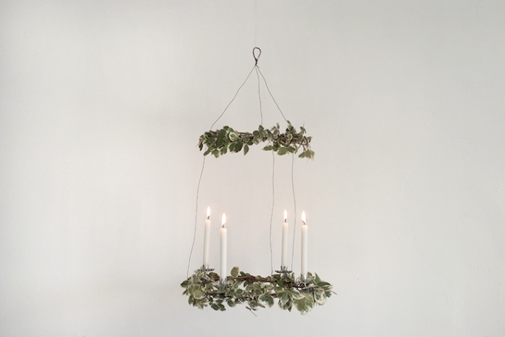 Hanging Advent Wreath @themerrythought
