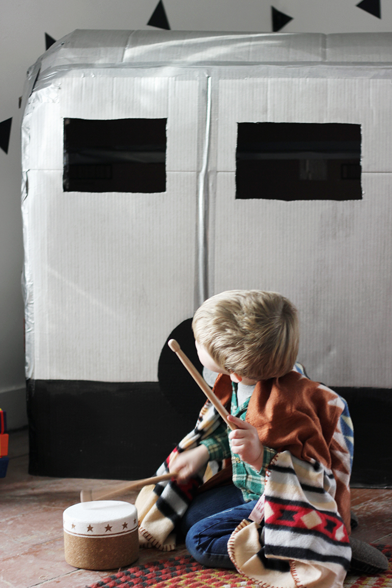 Diy Cardboard Camper Playhouse The Merrythought