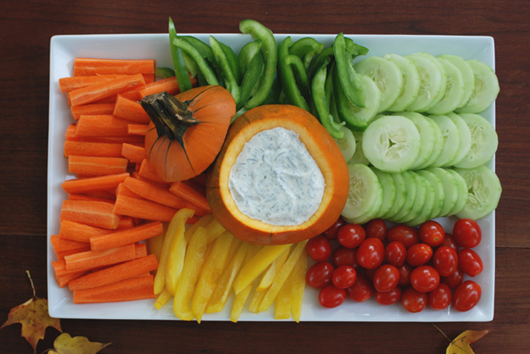 Autumn Veggie Platter Dill Dip The Merrythought