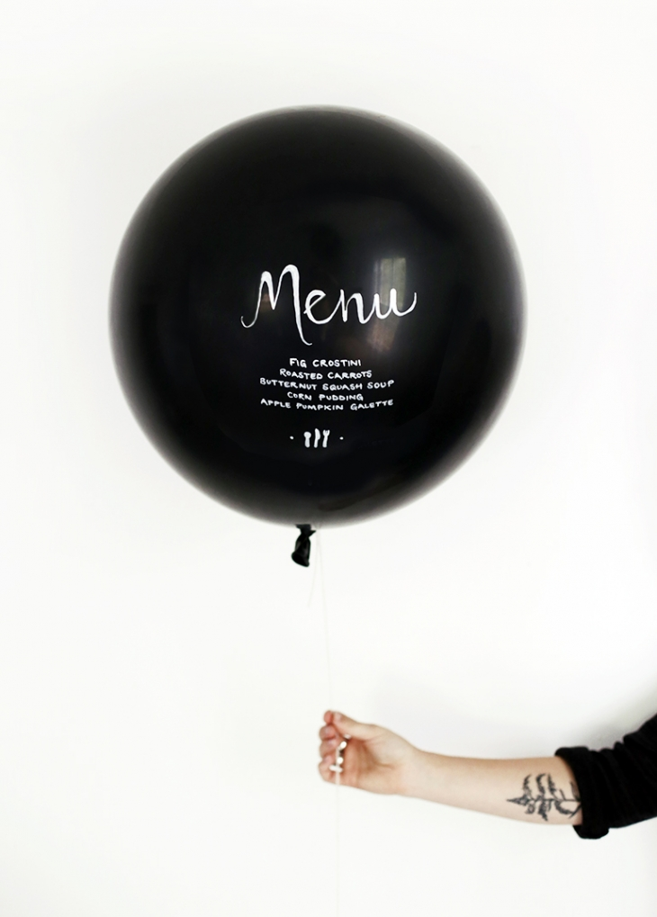DIY Menu Balloon @themerrythought