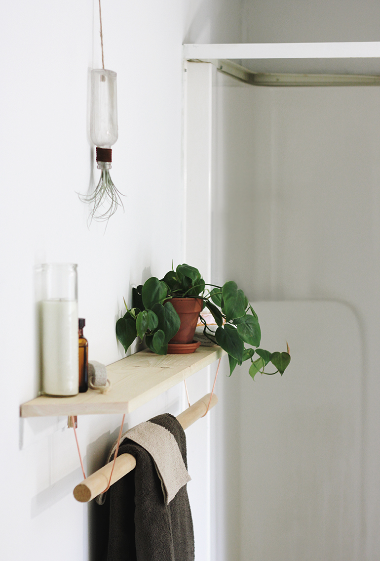 DIY Towel Rack & Shelf - The Merrythought