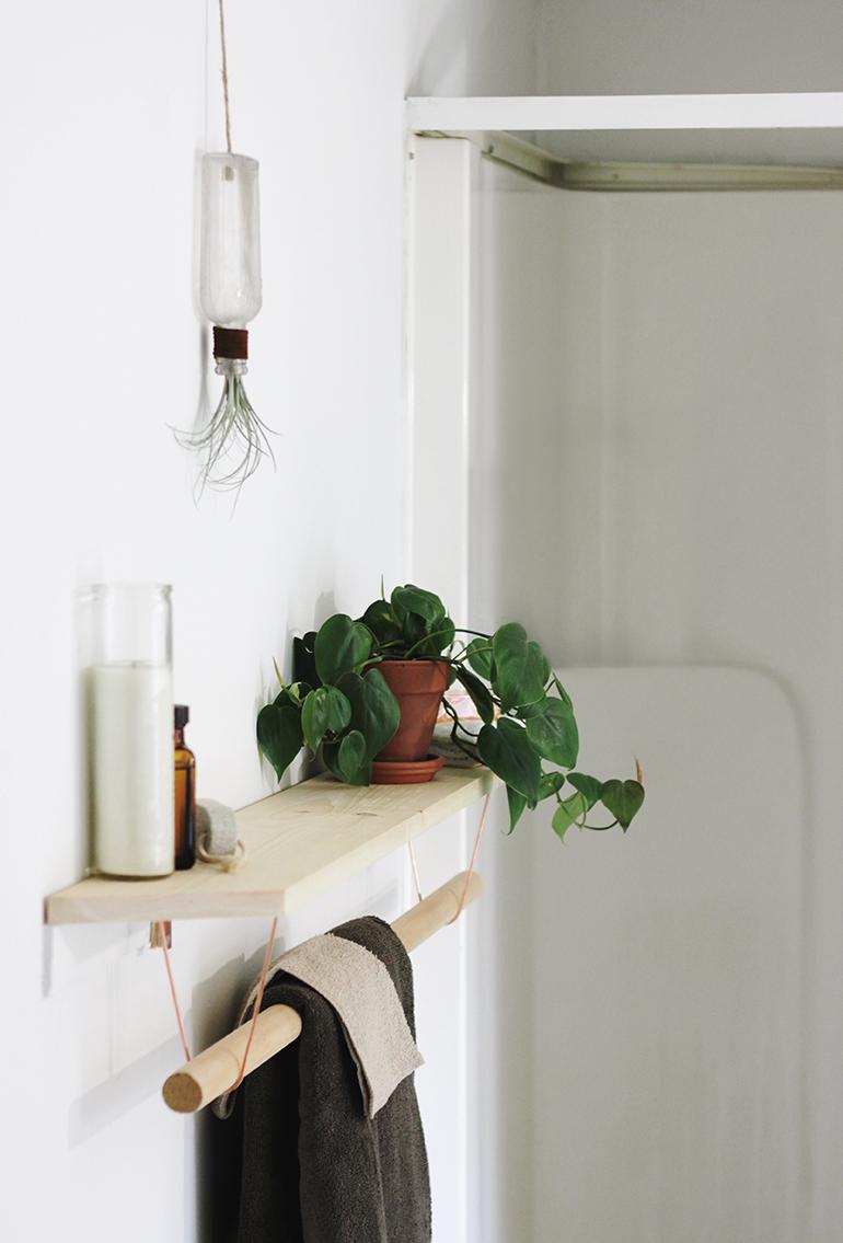 21 Amazing Shelf Rack Ideas For Your Home: DIY Towel Rack & Shelf