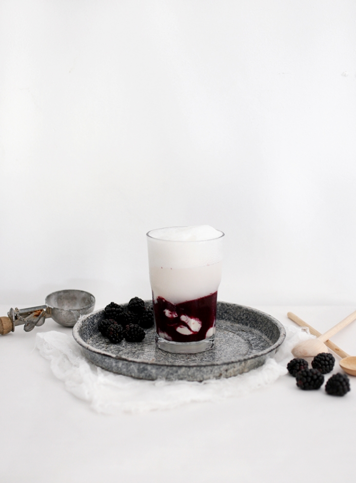 Blackberry Ice Cream Float @themerrythought