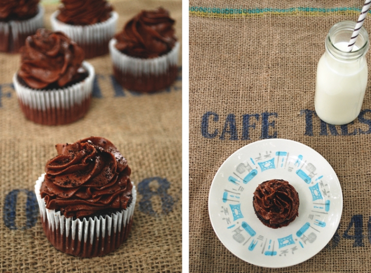 Blackout Espresso Cupcakes | The Merrythought