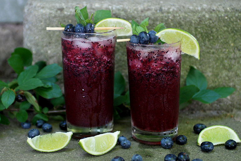 Blueberry Mojito Mocktail | 10 Delicious Non-Alcoholic Cocktails You Can Serve on A Weekend Party