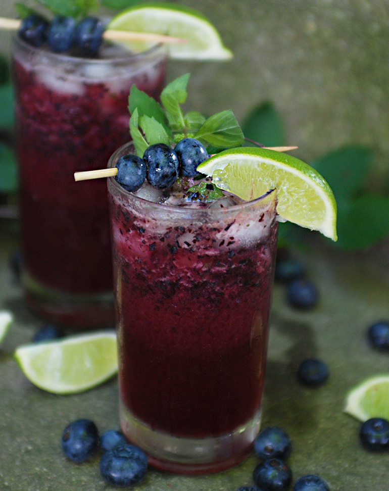 Mocktail Monday // Blueberry Mojito » The Merrythought