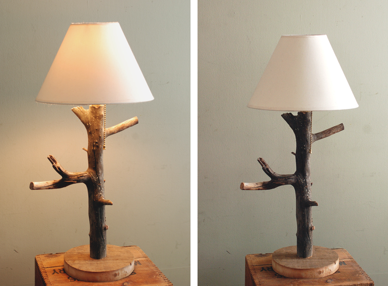 Elegant DIY Branch Table Lamp @themerrythought