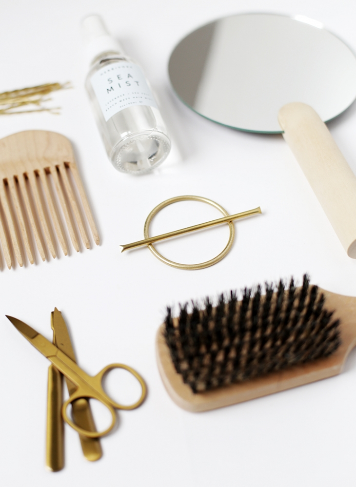 DIY Brass Circle Barrette @themerrythought