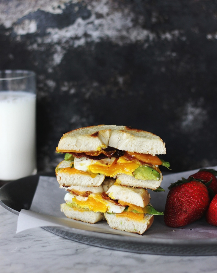Breakfast Bagel Grilled Cheese @themerrythought