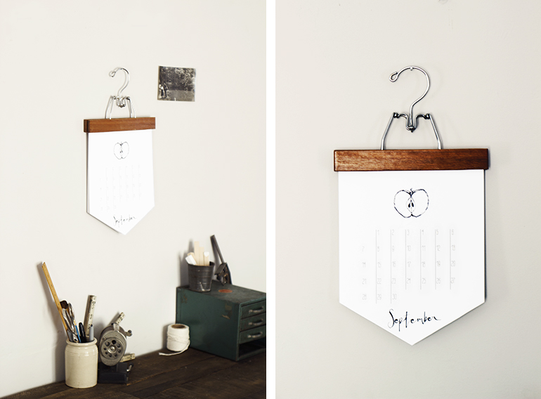 DIY Calendar @themerrythought
